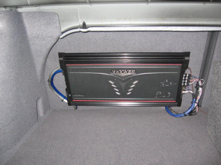 Amplifier Mounted to Seat