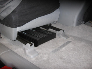Amplifier Mounted Under Front Seat