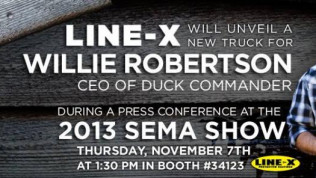 Debut of Limited Edition Commander Series and Project Vehicle With Willie Robertson in the LINE-X Booth